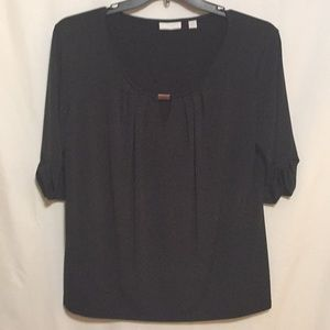 New York & Co. XL Keyhole Black Top
